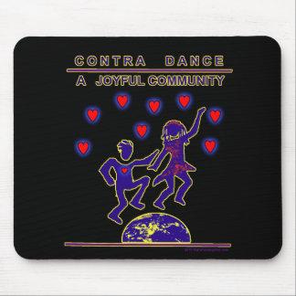 Contra alegría de la danza tapetes de raton