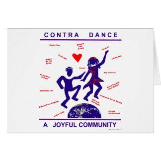 Contra alegría de la danza tarjeta de felicitación