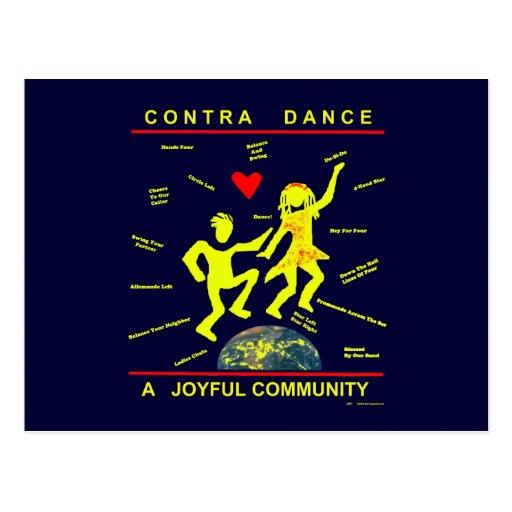Contra alegría de la danza tarjetas postales