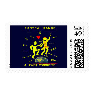 Contra alegría de la danza timbre postal
