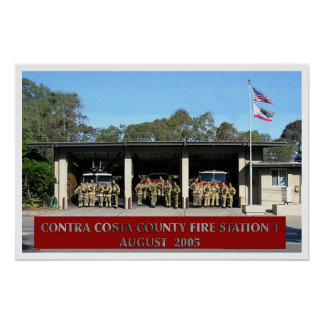 contra costa fire station 1 poster