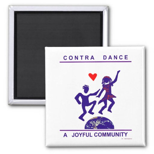 Contra Dance Gifts 2 Inch Square Magnet