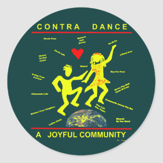 Contra Dance Gifts Classic Round Sticker