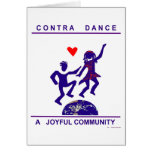 Contra Dance Gifts Greeting Card