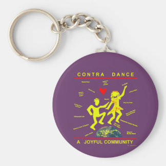 Contra Dance Gifts Key Chain