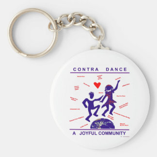 Contra Dance Gifts Key Chains