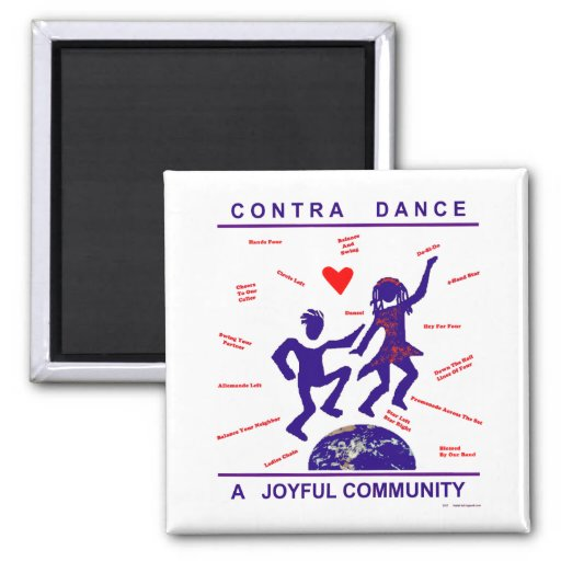 Contra Dance Gifts Fridge Magnet