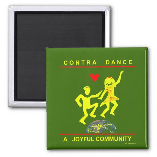 Contra Dance Gifts Fridge Magnets