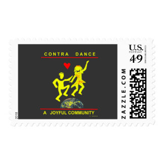 Contra Dance Gifts Postage Stamp