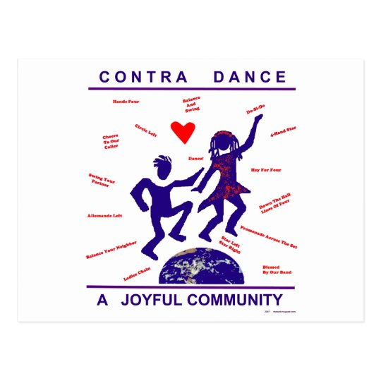 Contra Dance Gifts Postcard