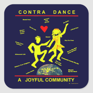 Contra Dance Gifts Square Sticker