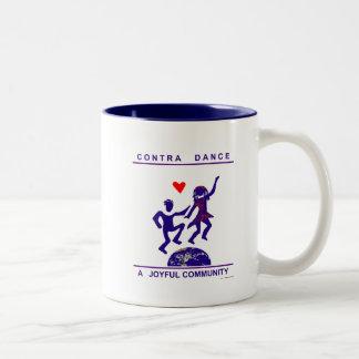Contra Dance Gifts Two-Tone Coffee Mug