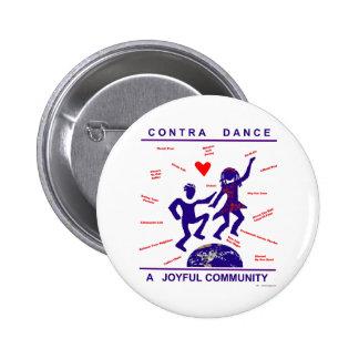 Contra Dance Joy 2 Inch Round Button