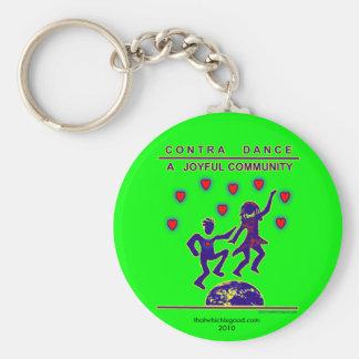Contra Dance Joy Keychain