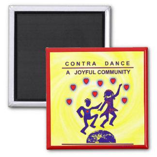Contra Dance Joy Fridge Magnets