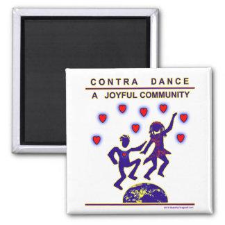 Contra Dance Joy Refrigerator Magnet