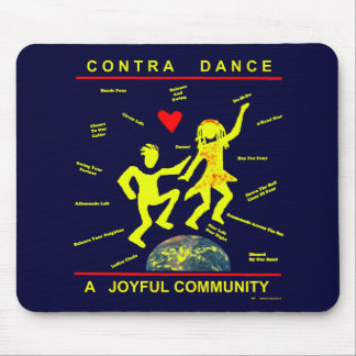 Contra Dance Joy Mouse Pads