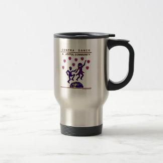 Contra Dance Joy 15 Oz Stainless Steel Travel Mug