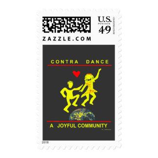 Contra Dance Joy Postage Stamp