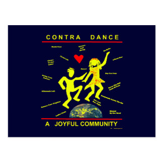 Contra Dance Joy Postcard