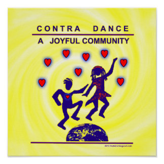 Contra Dance Joy Poster