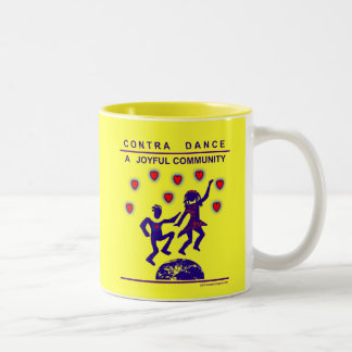 Contra Dance Joy Two-Tone Coffee Mug