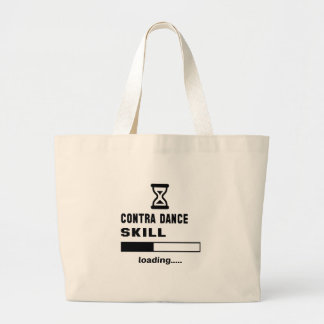 Contra dance skill Loading...... Large Tote Bag