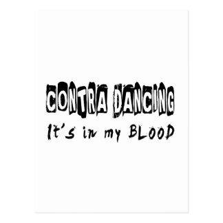 Contra Dancing Dance It's In My Blood Postcard