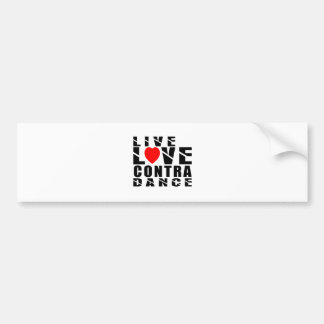 CONTRA DANCING.Designs Car Bumper Sticker