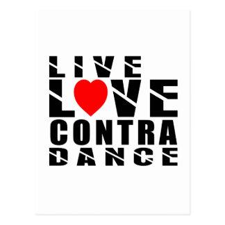 CONTRA DANCING.Designs Postcard