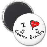 Contra Dancing Gifts - I Heart Contra Dancing 2 Inch Round Magnet
