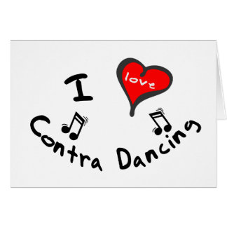 Contra Dancing Gifts - I Heart Contra Dancing Card