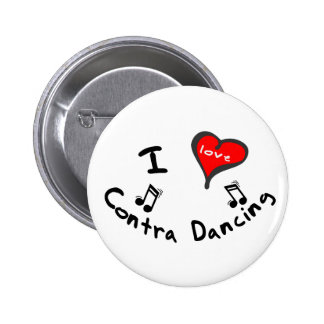 Contra Dancing Gifts - I Heart Contra Dancing Pinback Button