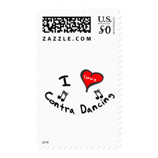 Contra Dancing Gifts - I Heart Contra Dancing Postage