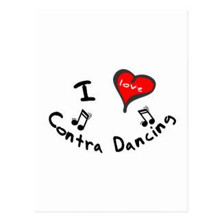 Contra Dancing Gifts - I Heart Contra Dancing Postcard