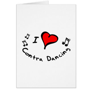 Contra Dancing I Heart-Love Card