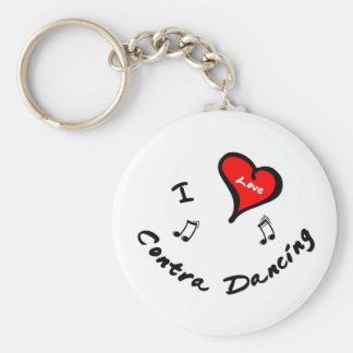 Contra Dancing Items - I Heart Contra Dancing Keychains