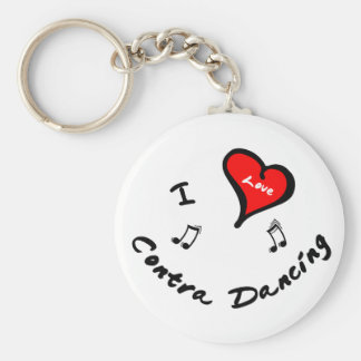 Contra Dancing Items - I Heart Contra Dancing Keychain