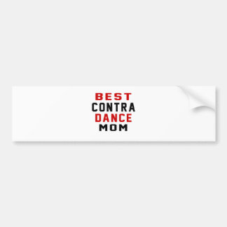 Contra Dancing Mom Car Bumper Sticker