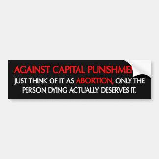 ¿Contra el aborto? Pegatina Para Auto