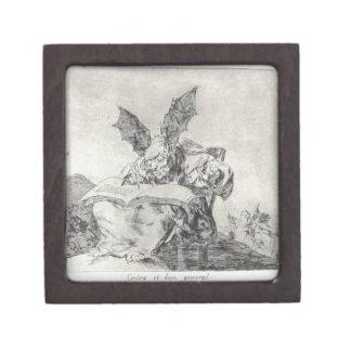 Contra el bien común de Francisco Goya Cajas De Recuerdo De Calidad