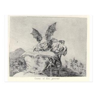 Contra el bien común de Francisco Goya Postal