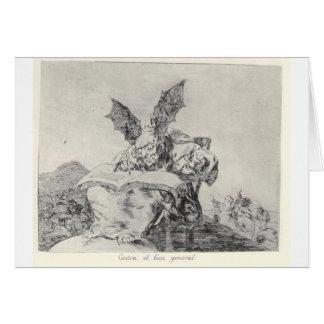 Contra el bien común de Francisco Goya Tarjeta De Felicitación