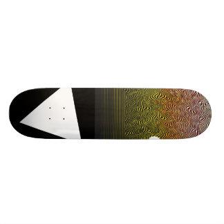 Contra el grano tabla de skate