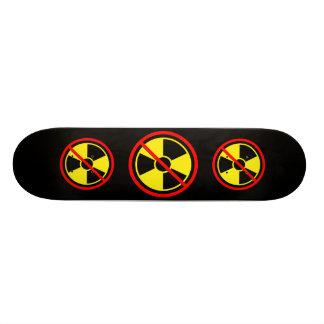 ¡Contra energía atómica! Muestra amarilla contra l Patineta Personalizada
