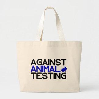 Contra ensayos con animales bolsa tela grande