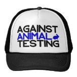 Contra ensayos con animales gorras de camionero