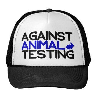 Contra ensayos con animales gorros