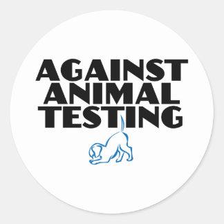 Contra ensayos con animales pegatina