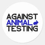 Contra ensayos con animales pegatinas